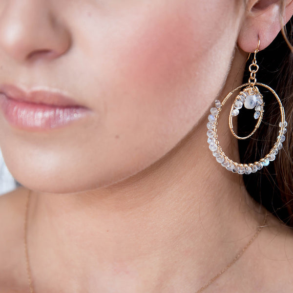 Bridal Moon Rising Earrings
