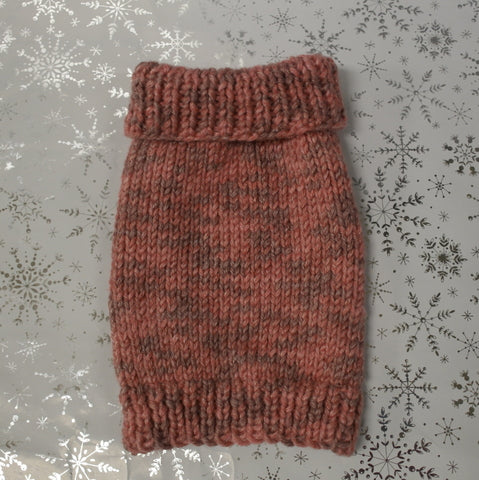 Hand Knitted Jumper Dusky Pink