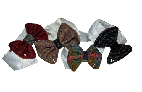 Harris Tweed Bowtie Collars