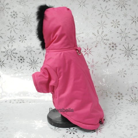 Pink Coat with Black Fur Trim (out of stock)