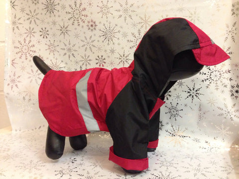 Casual Canine Reflective Red Coat