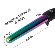 "Load image into Gallery viewer, TruBeauty 0.75-1"" Rainbow Titanium Curling Wand"
