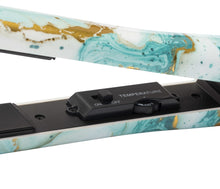 Load image into Gallery viewer, Tru Beauty Marble Flat Iron - Mint and Gold