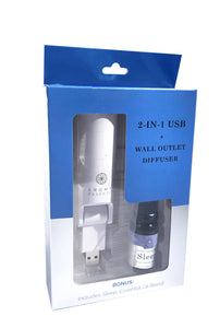 2-IN-1 USB + Wall Outlet Diffuser