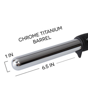 "Tru Beauty 1"" Chrome Titanium Barrel Curling Wand"