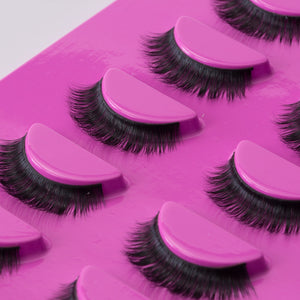 Tru Beauty Natural Mink Lashes, 5 Reusable Pairs, Adhesive Included