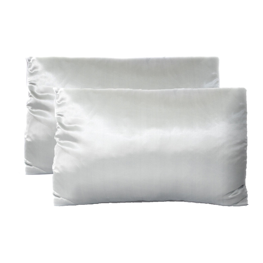 Revive Satin Pillowcase, Set of 2, Standard Sized - Gray