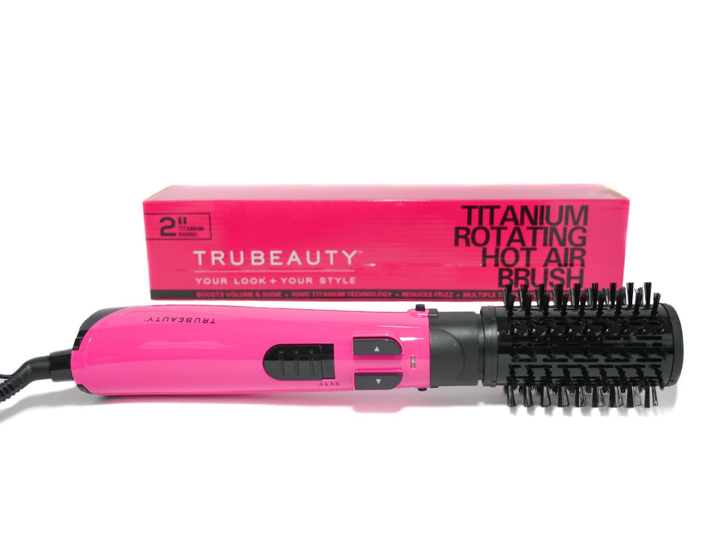 Tru Beauty Titanium Rotating Hot Air Brush - Pink