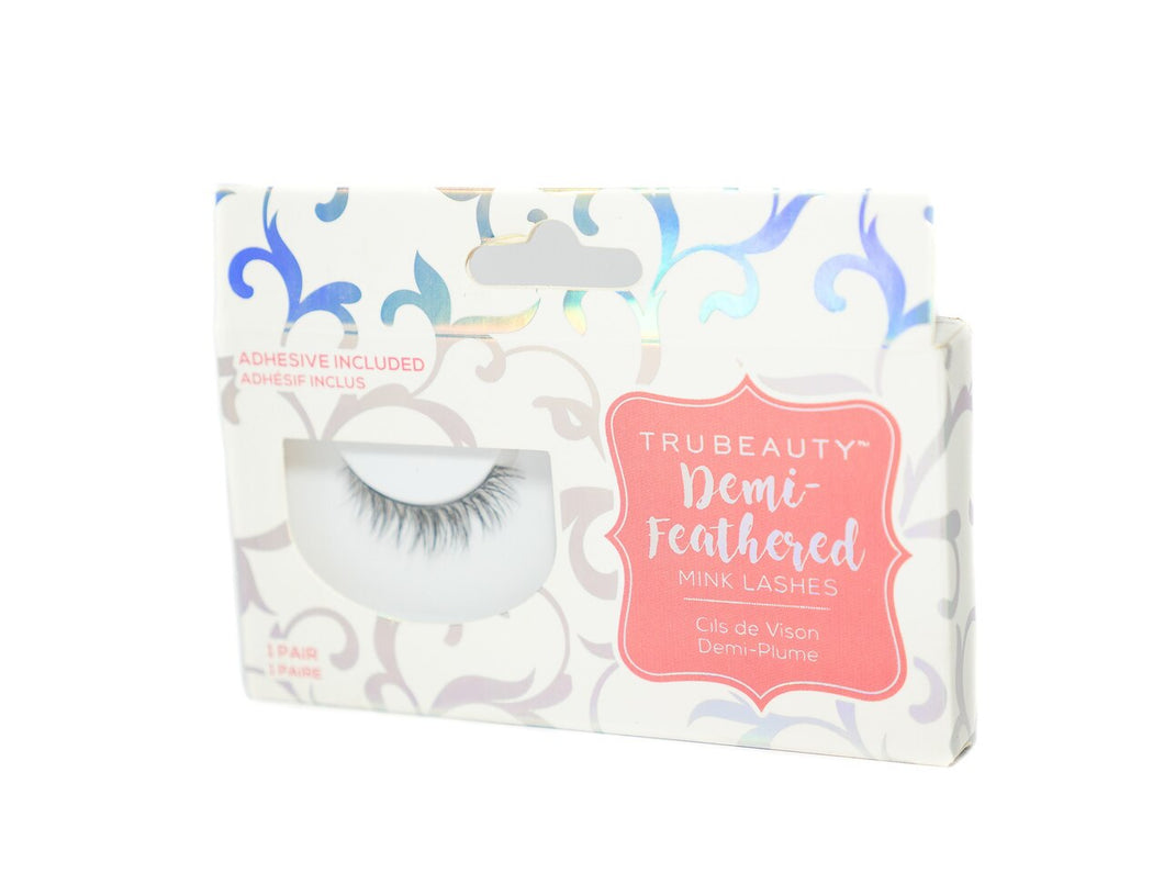 Tru Beauty Demi-Feathered Mink Lashes – 1 Pair