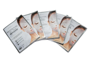Tru Beauty Silver Foil Face Mask – 5 Mask Sheets