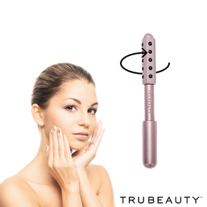 Tru Beauty Facial Massaging Derma Roller - Pink