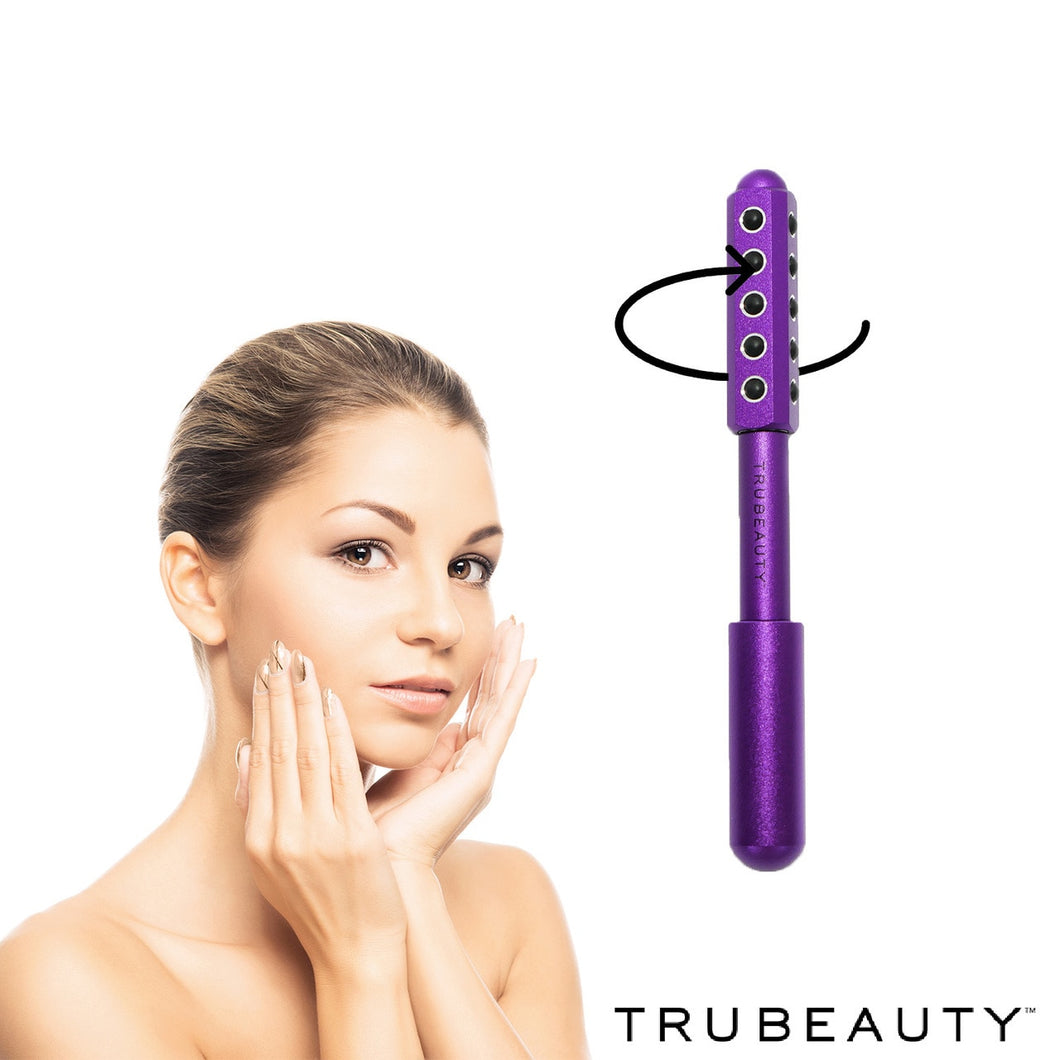 Tru Beauty Facial Massaging Derma Roller  - Purple