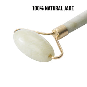 Revive Beauty Dual-End Jade Roller + Gua Sha Stone, Facial Massage Set