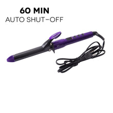"Load image into Gallery viewer, TruBeauty 1"" LED Curling Iron - Purple"