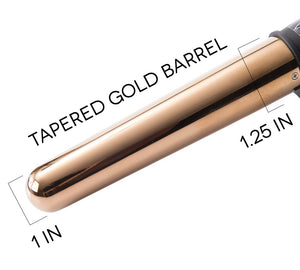 "TruBeauty 1-1.25"" Gold Titanium Barrel Curling Wand"