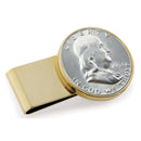 Half Dollar Coin Stainless Steel Money Clip, Gold Tone, Monogrammed, Choose The Year To Commemorate - The New Deal Shop