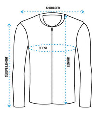 How to measure which Bomber Jacket size fits you the best. Bomber Jacket size chart for men.