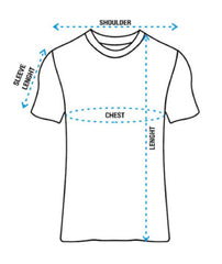 How to measure size for Half Sleeves T-shirt for men at The Localitee
