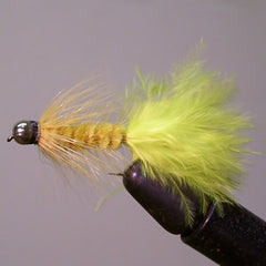 Conehead Wooly Bugger (yellow)