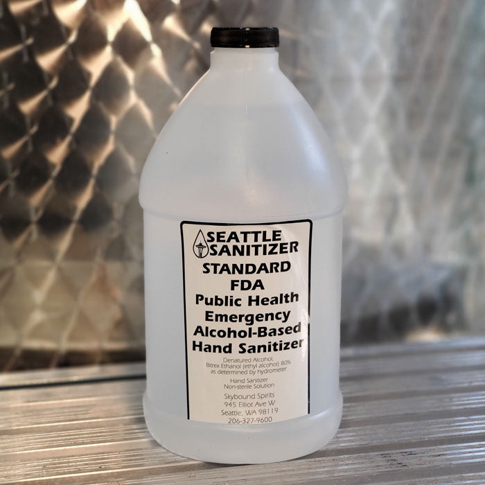 1/2 gallon hand sanitizer - pack of six - $24 per half-gallon