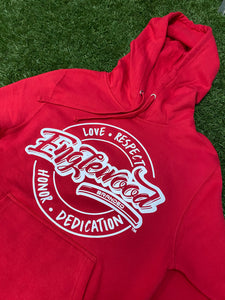 Love Respect Honor Dedication Hoodie (Red)