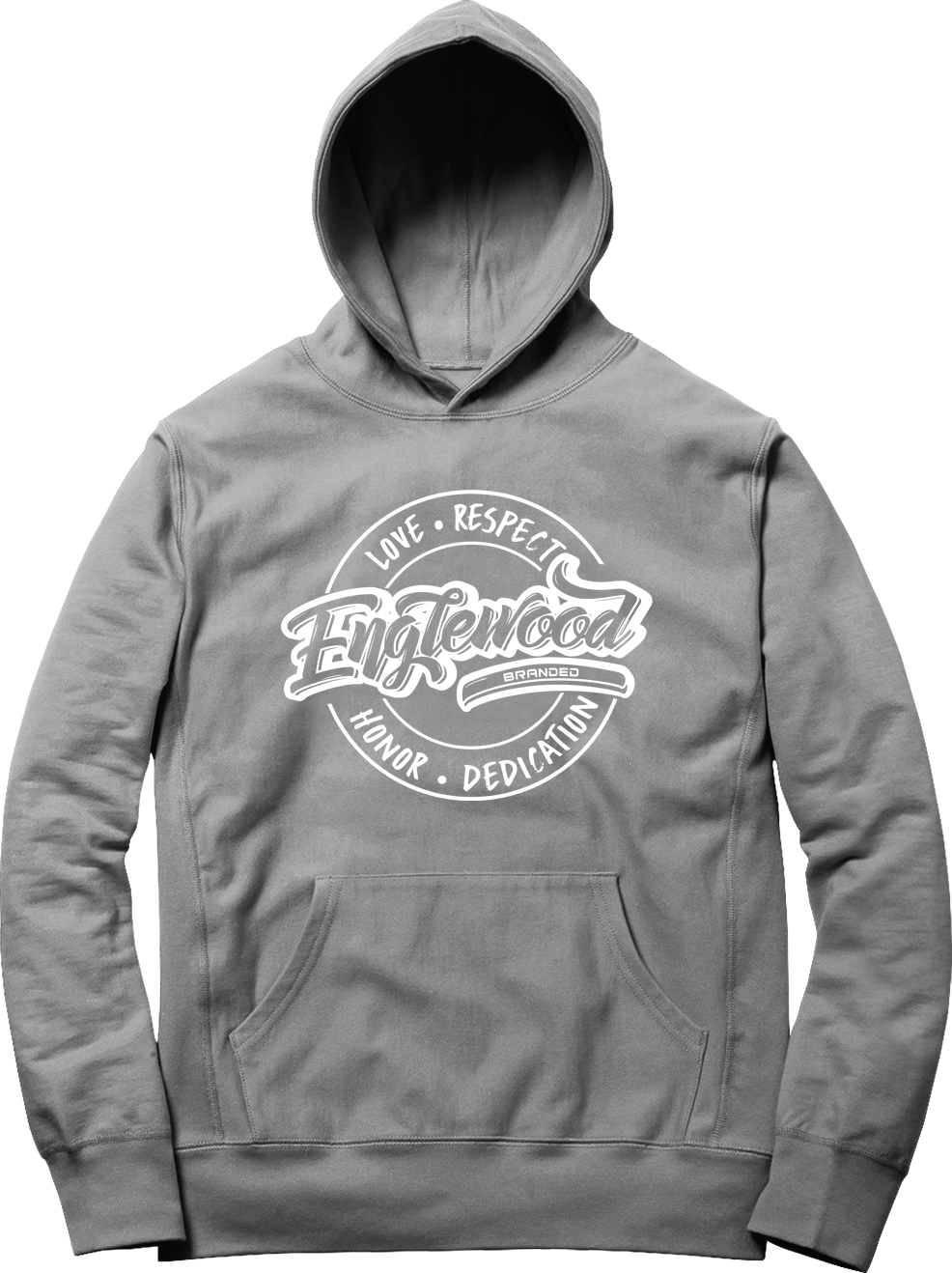 Love Respect Honor Dedication Hoodie (Grey/ White)