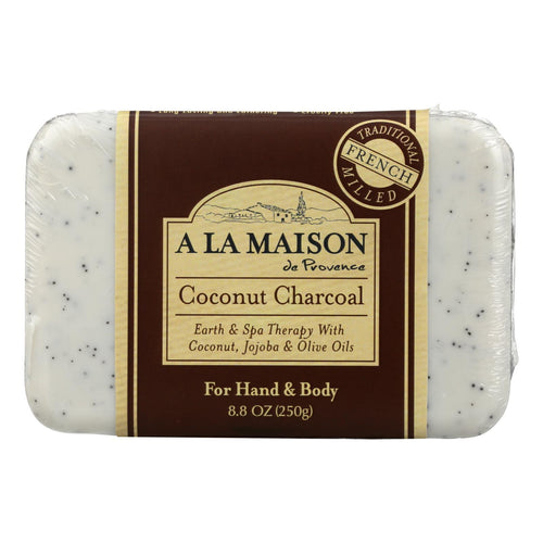 A La Maison - Bar Soap - Coconut Charcoal - 8.8 Oz A La Maison Bath And Body - Peach Ruby