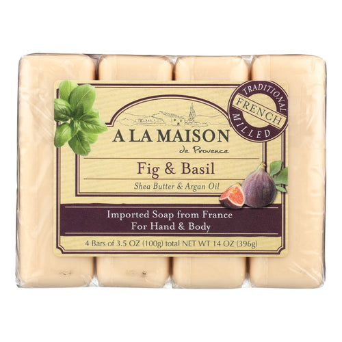 A La Maison - Bar Soap - Fig And Basil - 4-3.5 Oz A La Maison Bath And Body - Peach Ruby