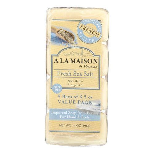 A La Maison - Bar Soap - Fresh Sea Salt - 4-3.5 Oz A La Maison Bath And Body - Peach Ruby