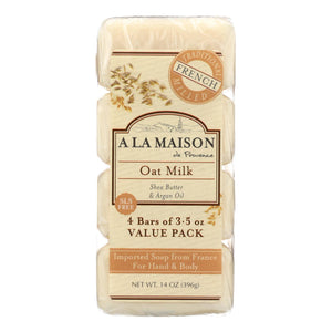 A La Maison - Bar Soap - Oat Milk - Value 4 Pack A La Maison Bath And Body - Peach Ruby