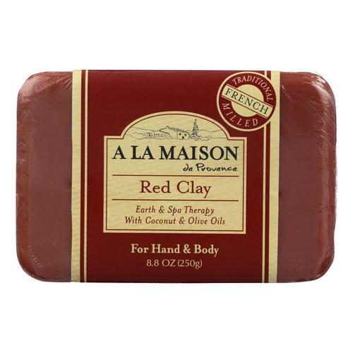 A La Maison - Bar Soap - Red Clay - 8.8 Oz A La Maison Bath And Body - Peach Ruby