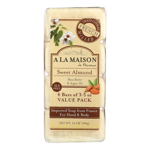 A La Maison - Bar Soap - Sweet Almond - 4-3.5 Oz A La Maison Bath And Body - Peach Ruby