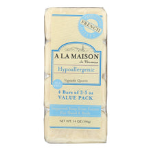 Load image into Gallery viewer, A La Maison - Bar Soap - Unscented Value Pack - 3.5 Oz Each - Pack Of 4 A La Maison Bath And Body - Peach Ruby