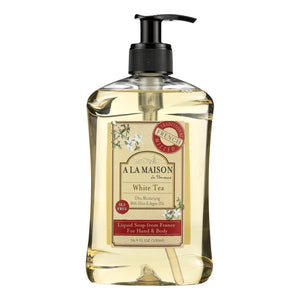 A La Maison - French Liquid Soap - White Tea - 16.9 Fl Oz A La Maison Bath And Body - Peach Ruby