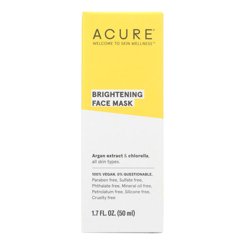 Acure - Facial Mask - Cell Stimulating - 1.75 Fl Oz. Acure Facial Care - Peach Ruby