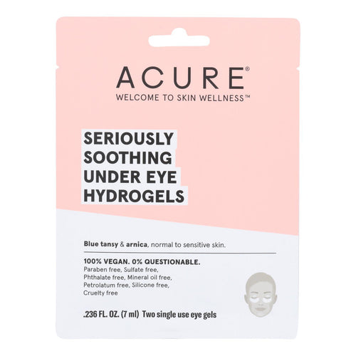 Acure - Seriously Soothing Under Eye Hydrogels - Case Of 12 - 0.236 Fl Oz. Acure Facial Care - Peach Ruby