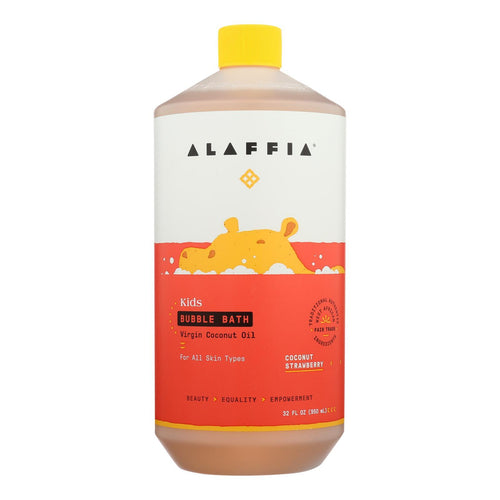 Alaffia - Everyday Bubble Bath - Coconut Strawberry - 32 Fl Oz. Alaffia Bath And Body - Peach Ruby