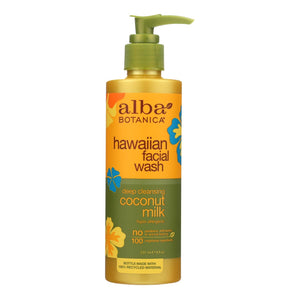 Alba Botanica - Hawaiian Facial Wash Coconut Milk - 8 Fl Oz Alba Botanica Facial Care - Peach Ruby