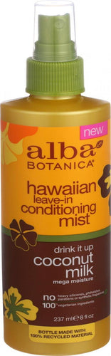Alba Botanica - Leave In Conditioning Mist - Hawaiian - Drink It Up Coconut Milk - 8 Oz Alba Botanica Hair Care - Peach Ruby