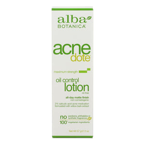 Alba Botanica - Natural Acnedote Oil Control Lotion - 2 Fl Oz Alba Botanica Personal Care - Peach Ruby