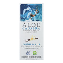 Load image into Gallery viewer, Aloe Cadabra Natural Organic Personal Lubricant - Tahitian Vanilla - 2.5 Oz Aloe Cadabra Personal Care - Peach Ruby