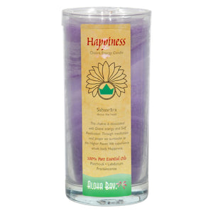 Aloha Bay - Chakra Jar Candle - Happiness - 11 Oz Aloha Bay Candles And Incense - Peach Ruby