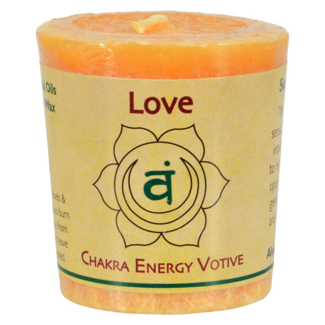 Aloha Bay - Chakra Votive Canlde - Love - Case Of 12 - 2 Oz Aloha Bay Candles And Incense - Peach Ruby