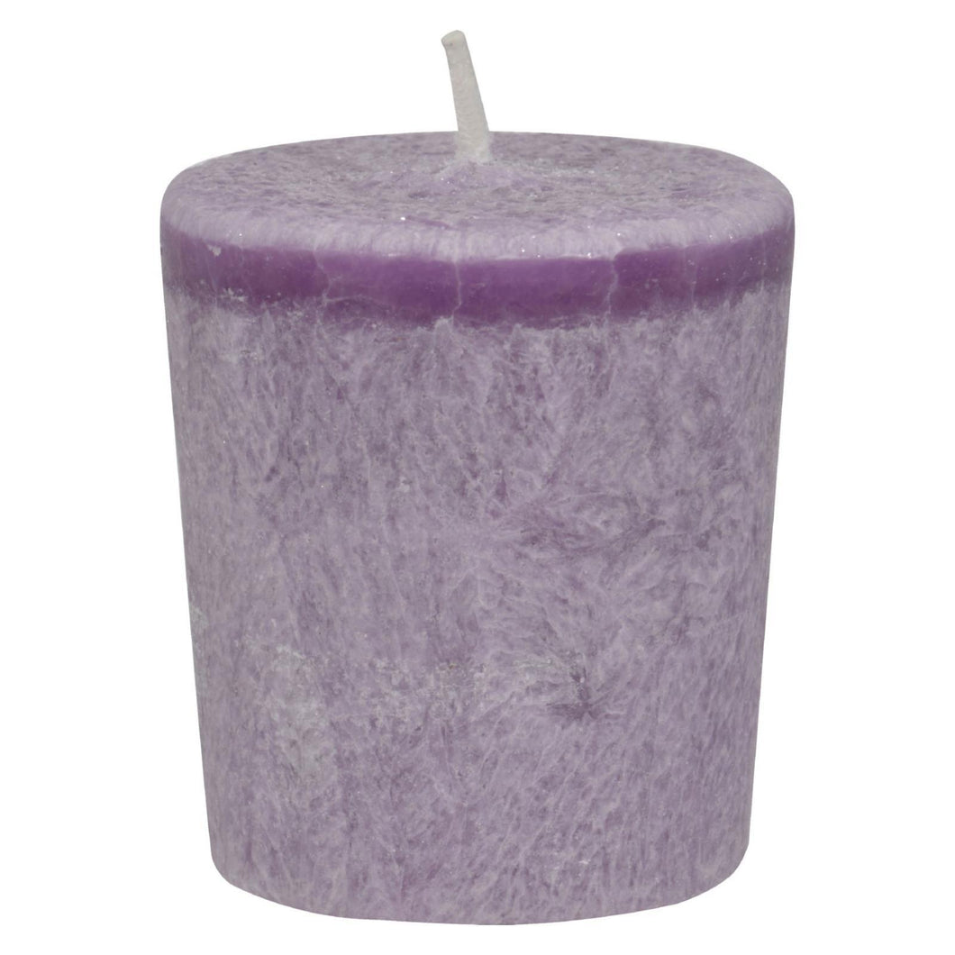 Aloha Bay - Votive Eco Palm Wax Candle - Lavender Hills - Case Of 12 - 2 Oz Aloha Bay Candles And Incense - Peach Ruby