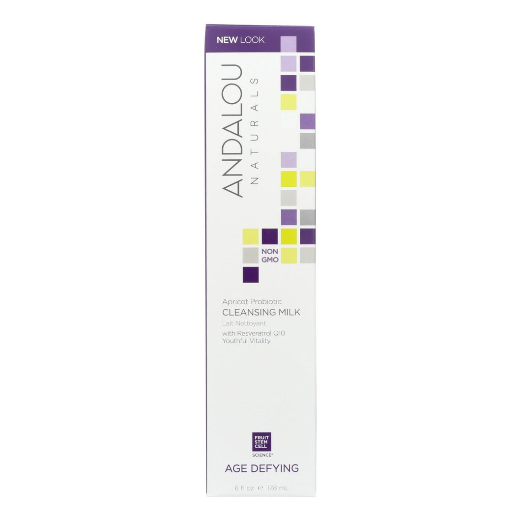 Andalou Naturals Cleansing Milk For Dry Sensitive Skin Apricot Probiotic - 6 Fl Oz Andalou Naturals Facial Care - Peach Ruby
