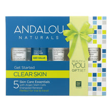 Load image into Gallery viewer, Andalou Naturals Get Started Clarifying 5 Piece Kit - 1 Kit Andalou Naturals Facial Care - Peach Ruby