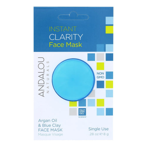 Andalou Naturals Instant Clarity Face Mask - Argan Oil & Blue Clay - Case Of 6 - 0.28 Oz Andalou Naturals Facial Care - Peach Ruby