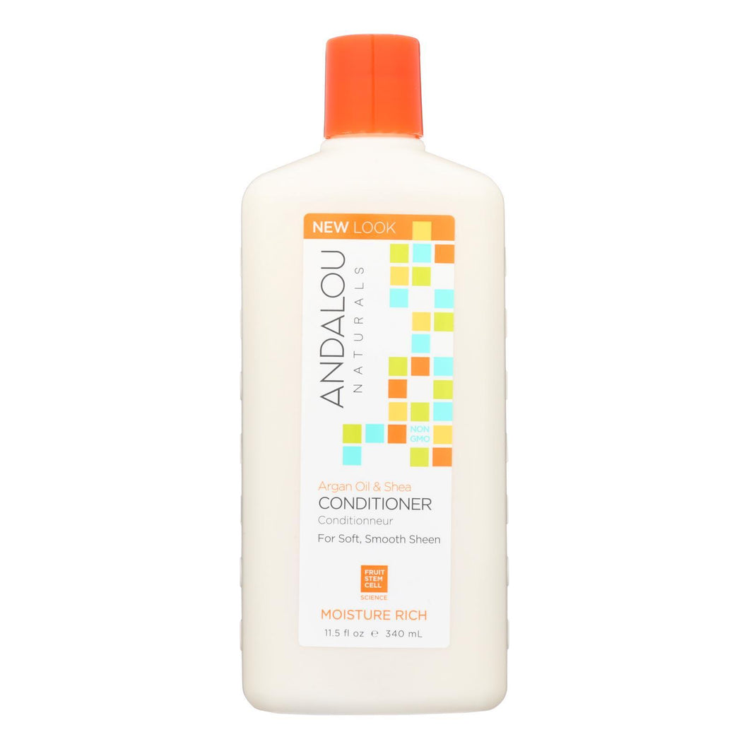 Andalou Naturals Moisture Rich Conditioner Argan And Sweet Orange - 11.5 Fl Oz Andalou Naturals Hair Care - Peach Ruby
