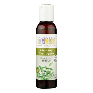Aura Cacia - Aromatherapy Bath Body And Massage Oil Eucalyptus Harvest - 4 Fl Oz Aura Cacia Botanicals And Herbs - Peach Ruby