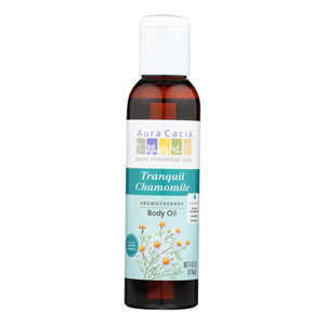 Aura Cacia - Aromatherapy Body Oil Tranquility - 4 Fl Oz Aura Cacia Botanicals And Herbs - Peach Ruby